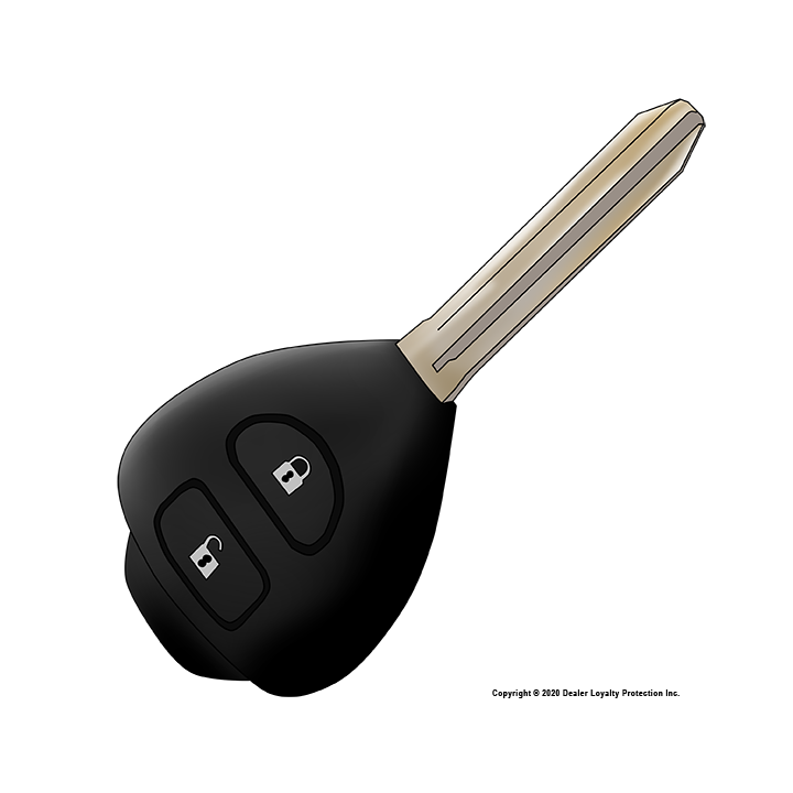 Vehicle Key Replacement by DLP